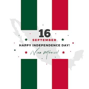 Independencia de mexico z flagą i gwiazdami