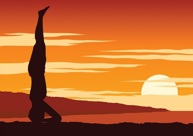 India yogi wykonuje jogę