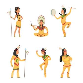 Indianie rdzennych amerykanów.
