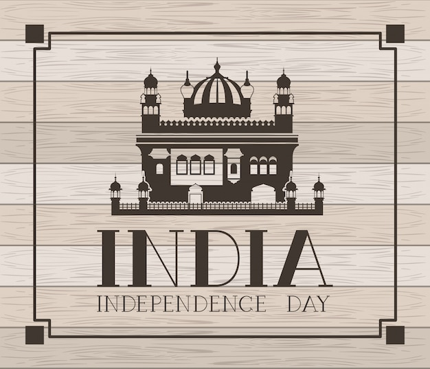 Indiańska amritsar złota świątynia z drewnianym
