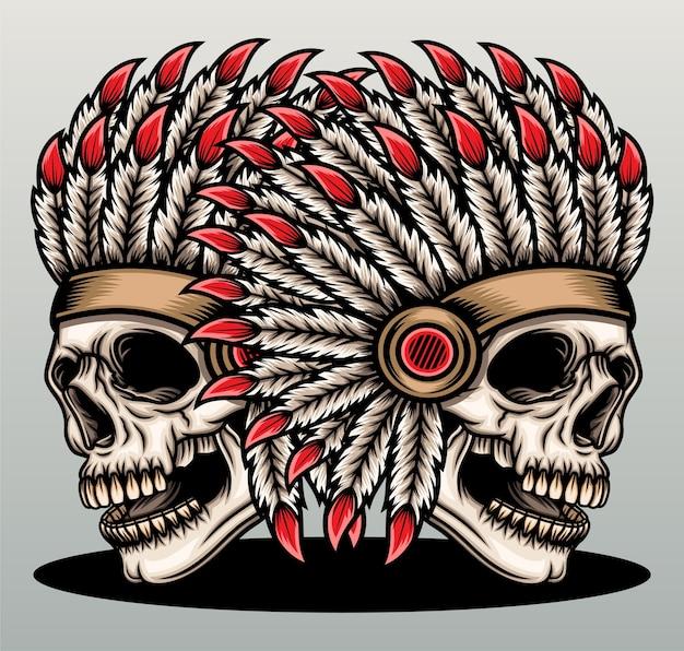 Indiańska czaszka.