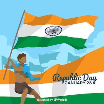 Indiański republika dnia tło