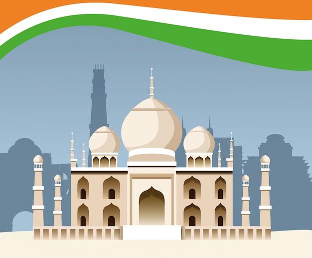 Indie architektura budynku zabytku narodowego