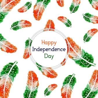 Indie dzień niepodległości tle z piór