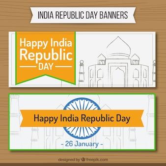 Indie dzień republiki banery