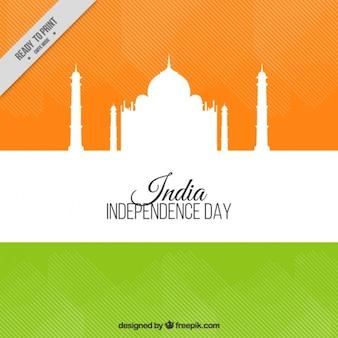 Indie niepodległości dzień tła z taj mahal sylwetkę