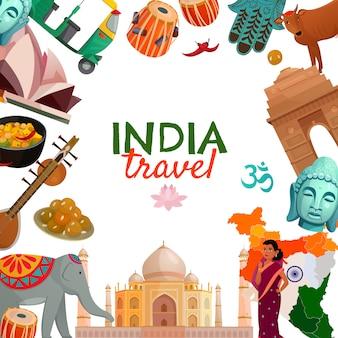 Indie podróży tło