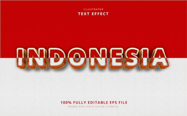 Indonezja efekt tekstowy