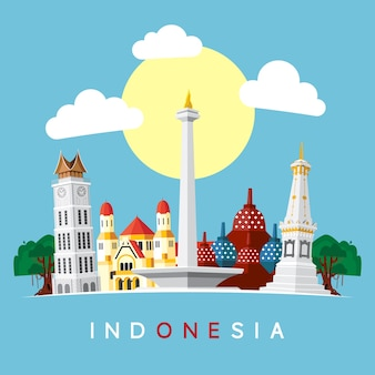 Indonezja landmark