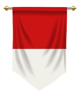 Indonezja lub proporzec z monako