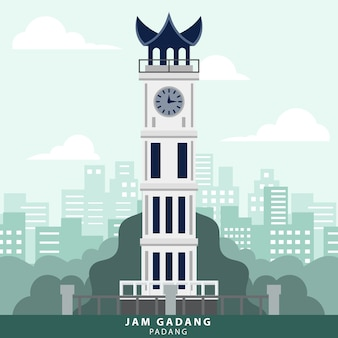 Indonezja padang jam gadang landmark