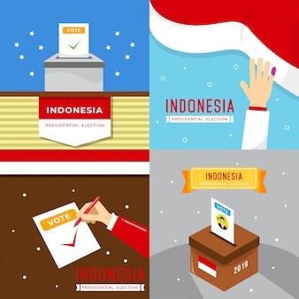 Indonezja prezydent wybory ilustracji