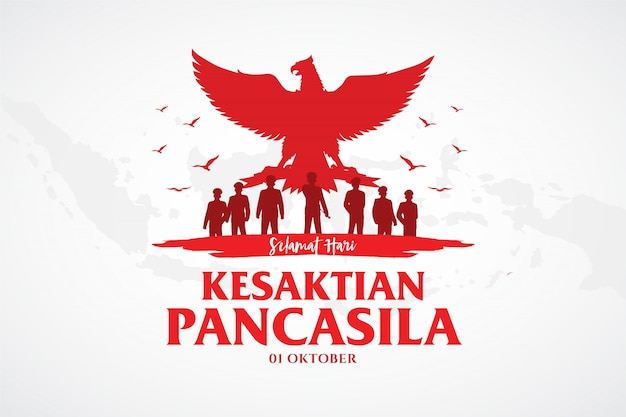 Indonezyjski dzień pancasila wakacje ilustracja.