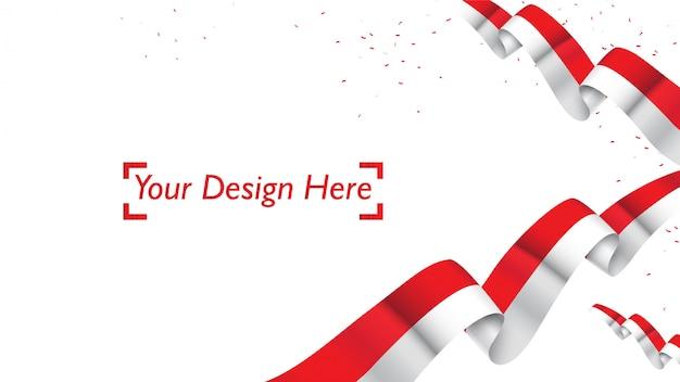Indonezyjski patriotyczny tło szablon z pustą przestrzenią dla teksta, projekta, wakacji, dnia niepodległości. witamy w indonezji