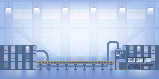 Industrialne wnętrze. inteligentna fabryka. przemysł