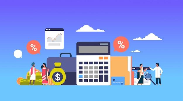 Indyjscy ludzie biznesu finanse transparent