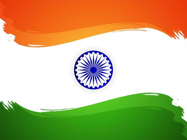 Indyjska flaga tematu dzień niepodległości dekoracyjne tło wektor