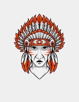 Indyjska głowa apache