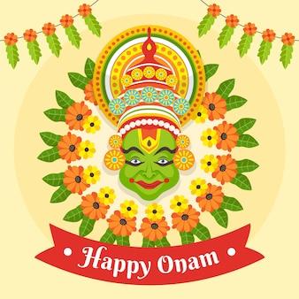 Indyjska ilustracja celebracji onam