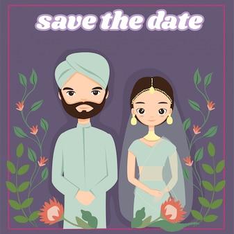 Indyjska karta zaproszenia ślubne