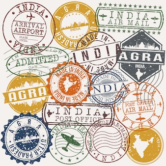 Indyjska kolekcja znaczków paszportowych