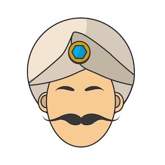 Indyjski człowiek z turbantem