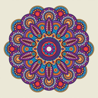 Indyjski doodle boho hippie mandali