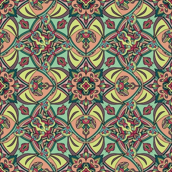 Indyjski dywan tribal ornament wzór.