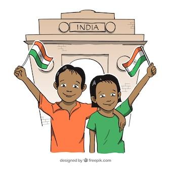 Indyjski dzień niepodległości tło