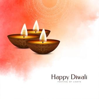 Indyjski festiwal happy diwali miękki kolorowy