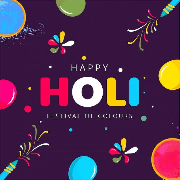 Indyjski festiwal holi w tle.