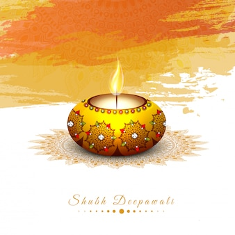 Indyjski festiwal, koncepcja happy diwali.