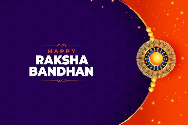 Indyjski festiwal raksha bandhan piękny projekt karty
