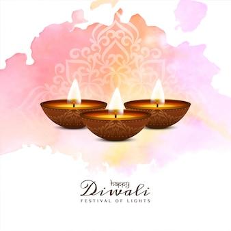 Indyjski festiwal religijny happy diwali