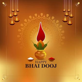Indyjski festiwal szczęśliwy kartkę z życzeniami bhai dooj