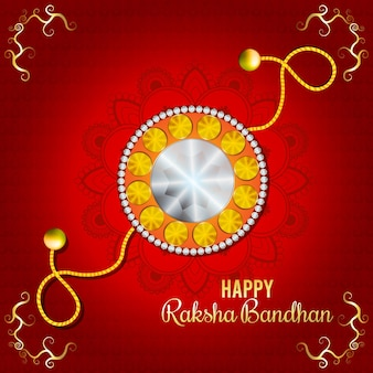 Indyjski festiwal szczęśliwy raksha bandhan tło uroczystości