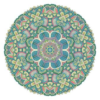 Indyjski kwiatowy ornament paisley etniczna mandala z nadrukiem kwiatowym