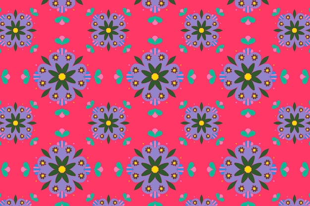 Indyjski mandala kwiat wektor wzór tła