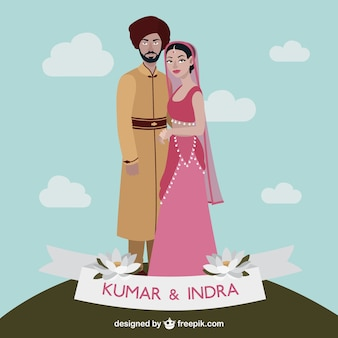 Indyjski para ślub