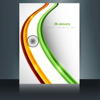 Indyjski projekt flagi broszura