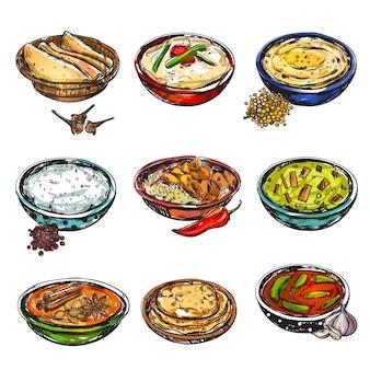 Indyjski zestaw żywności