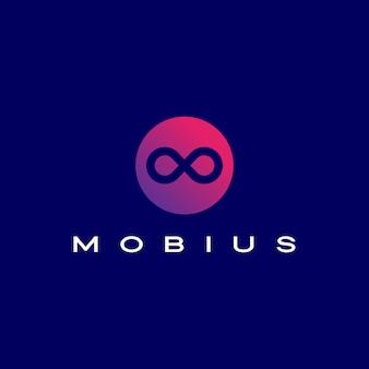 Infinity mobius logo ikona ilustracja