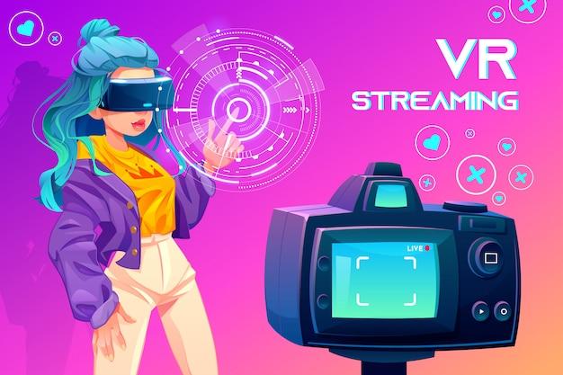 Influencer blogger vr streaming