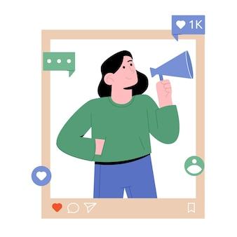Influencerka w mediach społecznościowych