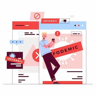 Infodemic news ilustracja
