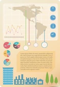 Infograficzny model mapy
