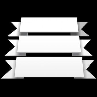 Infografika 3d białe wstążki