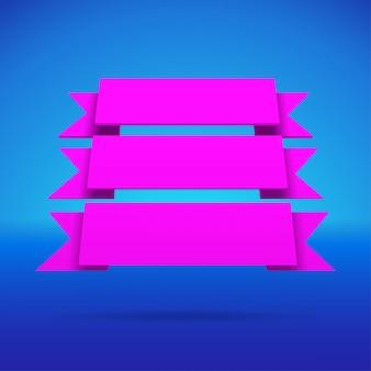 Infografika 3d fioletowe wstążki