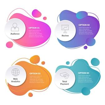 Infografika abstrakcyjne kształty gradientu