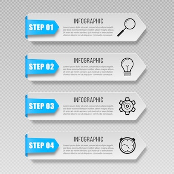Infografika banery etykieta prezentacje znaczników ikony marketingowe dla schematu układu przepływu pracy